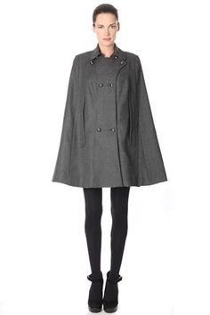 Jumpjack Twill Poncho Coat - Jackets & Coats - French Connection