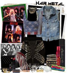 """Hair Metal"" by gokarm on Polyvore"