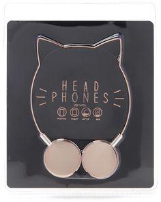 FOREVER 21 Cat Ear Headphones                                                                                                                                                                                 More
