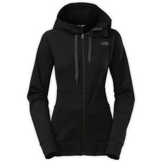 The North Face Women's Shelly Hoodie (160 CAD) ❤ liked on Polyvore featuring tops, hoodies, outerwear, tnf black, the north face, black top, hooded sweatshirt, hooded pullover and the north face hoodies