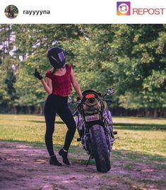 Girl Riding Motorcycle, Biker Girl, Golf Bags, Sexy, Motorbikes, Biker Chick, Girls On Bikes