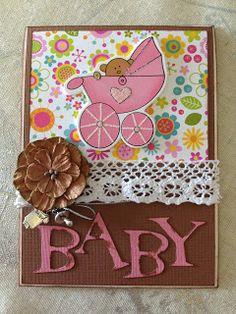 Randis hobbyverden: Babykort til en liten jente