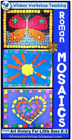 Mosaics with kids! Whimsy Workshop Teaching http://whimsyworkshop.blogspot.ca/2014/01/five-for-friday-mosaics-dragons.html