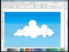 "04-COREL DRAW TUTORIAL ""HOW TO MAKE VECTOR CLOUDS"""