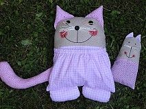 Hračky - Mačka - vreckárik s levanduľovou mačkou - 2247108
