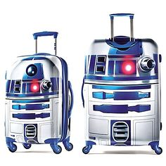 Whether traveling a short distance or to a galaxy far, far away, the Star Wars R2-D2 Upright by American Tourister is the luggage for you. the Official Luggage of Disney. Features easy rolling wheels and telescopic handle.