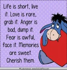 Quotes Winnie The Pooh Eeyore Smile 24 Ideas Life Quotes Love, Great Quotes, Me Quotes, Motivational Quotes, Funny Quotes, Inspirational Quotes, Friend Quotes, Super Quotes, Eeyore Quotes