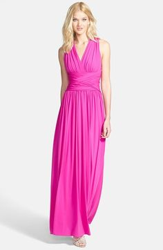 Halston Heritage Crisscross Jersey Gown available at #Nordstrom for a black tie event, gorgeous color.