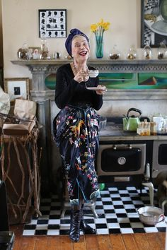 ADVANCED STYLE Beatrix Ost. Click through for more pix of her and her home.
