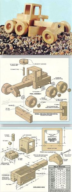 Road Grader - Wooden Toy Plans and Projects | WoodArchivist.com: