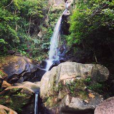 Todoroki waterfall. Nago, Okinawa, Japan. #okinawa #waterfall   沖縄県名護市 轟の滝にて。  小さい滝ながらも喧騒を忘れる場所です