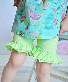 Love this Seafoam Green Ruffle Shorts - Infant, Toddler & Girls on #zulily! #zulilyfinds