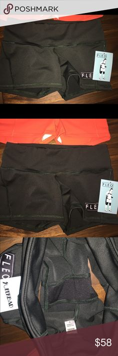 FLEO contour forest green shorts small NWT Size small. New with tags. Sold out online in small. Forest green color (looks a little darker in pics, so check website if you want to get a better idea of the color). Cross posted. Less on merc. Fleo Shorts