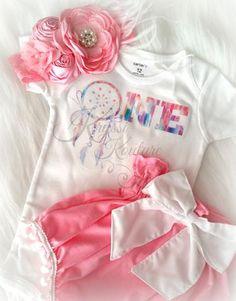"Boho Birthday ""ONE"" Dream Catcher Onesie/Shirt"