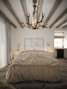 House in the style of «Provence» | Bedroom by Sergey Buldygin, via Behance
