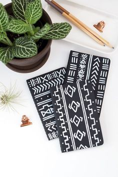 Make this DIY Mud Cloth Notebook in Under 30 Minutes   DIY Crafts   Crafting   #diy #diycrafts #crafts #unsoshl   www.unsoshl.com