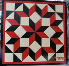 Barn Quilt--Broken Diamond Pattern 4'x4'. $215.00, via Etsy.
