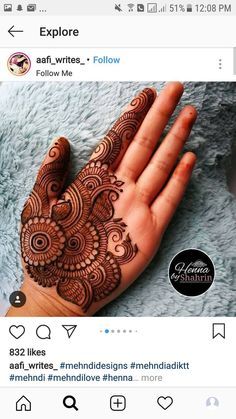 Ideas Bridal Mehendi Hands Henna For 2019 Palm Henna Designs, Mehndi Designs 2018, Mehndi Designs For Girls, Mehndi Designs For Beginners, Modern Mehndi Designs, Bridal Henna Designs, Mehndi Design Photos, Dulhan Mehndi Designs, Mehndi Designs For Fingers