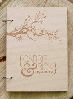 Laser engraved wedding book