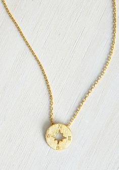 Such Navigate Heights Necklace. The skys the limit with this intrepid compass necklace!  #modcloth