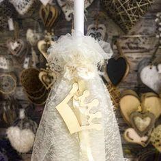 S-Δημιουργείν   Λαμπάδα Βάπτισης Girls Dresses, Flower Girl Dresses, Wedding Dresses, Flowers, Fashion, Dresses Of Girls, Bride Dresses, Moda, Bridal Gowns