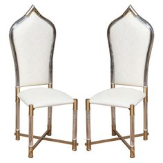 Moroccan Inspired Italian Lucite Dining Chairs By Pavia