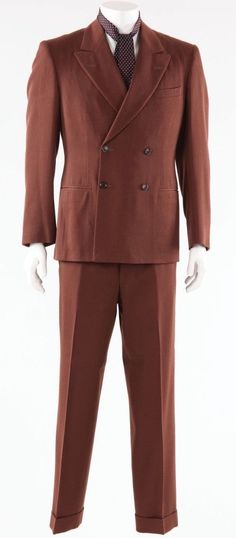 John Dillinger brown suit & tie from Public Enemies - Jun 2010 Public Enemies, Brown Suits, Three Piece Suit, Suit And Tie, Jun, Double Breasted, Suit Jacket, History, Jackets