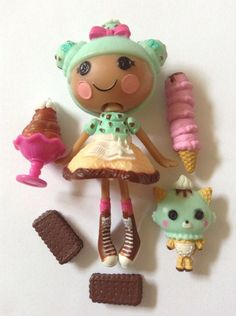 LALALOOPSY MINI SCOOPS WAFFLE CONE GOOD CONDITION 100% FAST SHIPPING ❤️