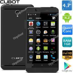 "(CUBOT) ONE 4.7"" IPS емкостный сенсорный экран MTK6589 4-ядра Android 4.2 3G + GPS + 8MP CAM P05-CUONE"