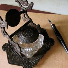 Ink: #Inkwell and #pen.
