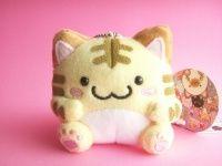 Kawaii Cute Maruneko Club Key Chain Plush Toy *Tora Light Yellow