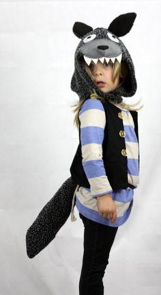 Big Bad WOLF Kostüm Kinder Halloween von sparrowandbcostumery