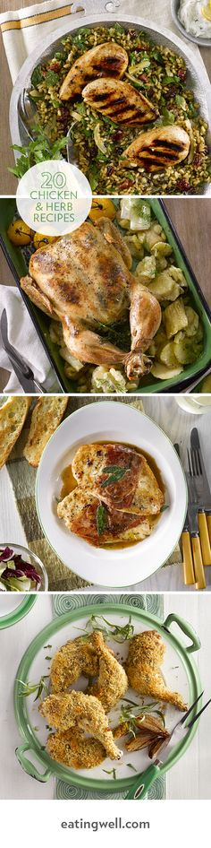 Roast Chicken with Creamy Dill & Leek Sauce, to super-savory Baked Chicken with Tarragon & Dijon Mustard and Italian-inspired Chicken Saltimbocca, these recipes will have you reaching for the herbs on your next trip to the store.