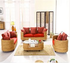 Rattan and Wicker furniture Manufacturer and Wholesaler Indoor Wicker Furniture, Furniture Sofa Set, Cane Furniture, Bamboo Furniture, Rattan Sofa, Cane Sofa, Sofa Set Designs, Furniture Manufacturers, Floor Chair