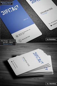 Minimal Corporate Business Card by khaledzz9 on deviantART