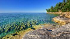 Pictured Rocks National Lakeshore - northern peninsula