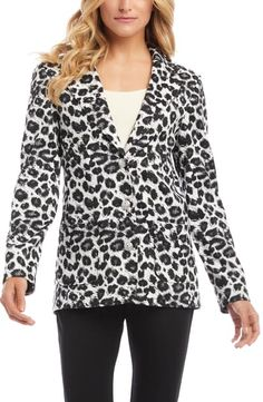 $179.0. KAREN KANE Jacket Leopard Print Jacquard Blazer #karenkane #jacket #blazer #clothing Summer Girls, Hot Girls, New Outfits, Fashion Outfits, New Bra, Karen Kane, Valentino Sneakers, Nordstrom, Tunic Tops