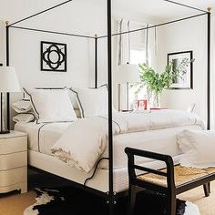 I find myself drawn to slim canopy beds lately.