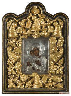 ● Ikona - Matka Boska Włodzimierska, 1908-1926, Jegor Kuzmicz Czerjatow, Moskwa ● Aukcja ● Artinfo.pl
