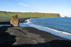 #Lavasandstrand von #Dyrhólaós, #Island