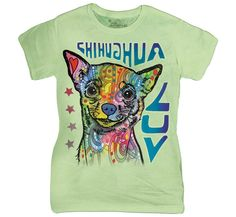 Chihuahua Luv Dean Russo tee, click or dial for chihuahua dog shirts, hoodies, and gifts that help feed shelter dogs in the USA 3d T Shirts, Cool T Shirts, T Shirts For Women, Chihuahua Art, Dean Russo, Love T Shirt, Look At You, Tye Dye, Classic T Shirts
