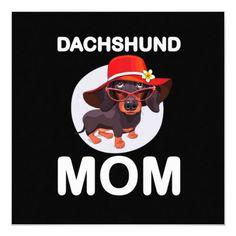 Dog Gift | Dachshund Mom Lovely Invitation doberman with kids, doberman husky mix, doberman collar #dobermanpride #dobermaninfinity #dobermandogs, back to school, aesthetic wallpaper, y2k fashion