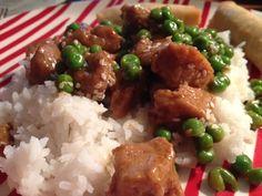 Sesame seitan with rice!