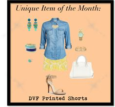 #Unique Item of the Month: #DVF Printed Shorts
