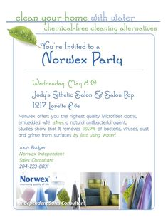 norwex party invitation Ocassionally I am forced to design in