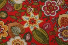 Mill Creek Raymond Waites Gomer-Terrace Printed Polyester Outdoor Fabric in Lipstick $8.95 per yard