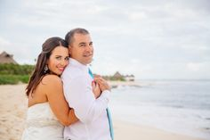 """Sal and Louise met through a mutual friend. 'We jokingly call him the """"proud papa"""" as his match was a perfect fit'. Destination wedding photography in Riviera Maya."""