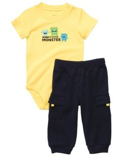 Carter's Boys 18M ''Mommy's Little Monster'' 2-Piece Bodysuit Pant Set (9M) Carter's. $10.00