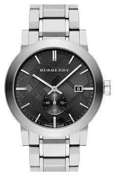 Check Stamped Bracelet Watch @nordstrom