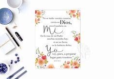 SPANISH John 14:1-2 / Juan 14.1-2 Texto Bíblico / Bible Verse Printable / Scripture Wall Art Christian Cristiano Carteles DIGITAL Art by AnayaMichelleDecor on Etsy